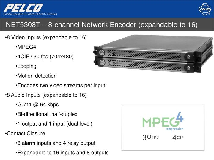 NET5308T – 8-channel Network Encoder (expandable to 16)