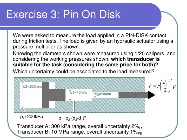 Exercise 3: Pin On Disk
