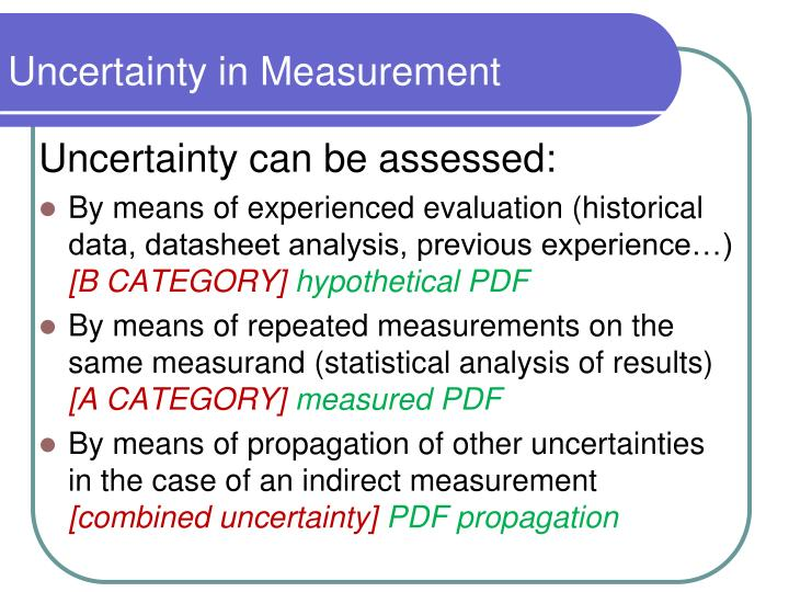 Uncertainty in measurement1