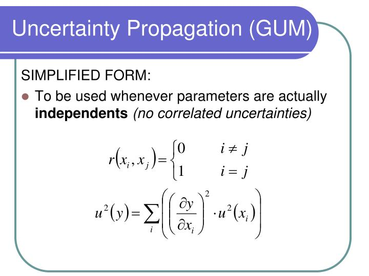 Uncertainty Propagation (GUM)
