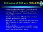 retooling of isis into results
