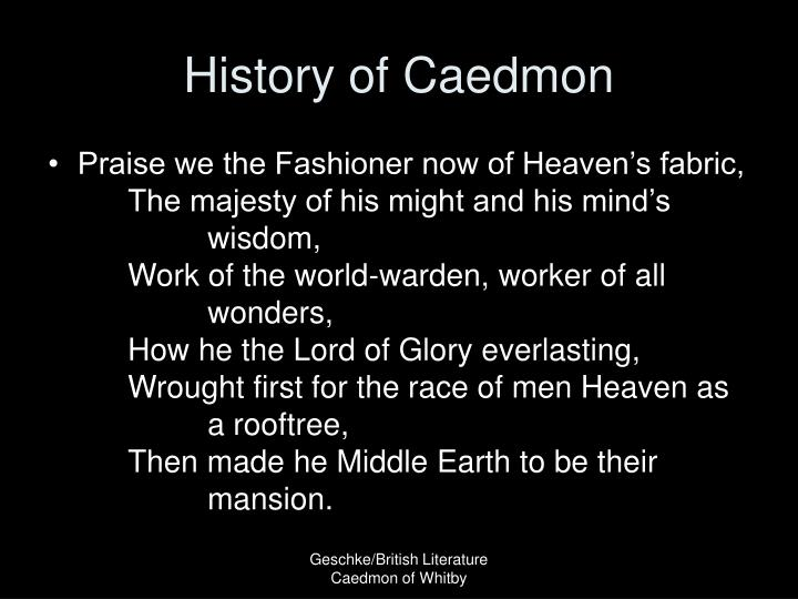 History of Caedmon