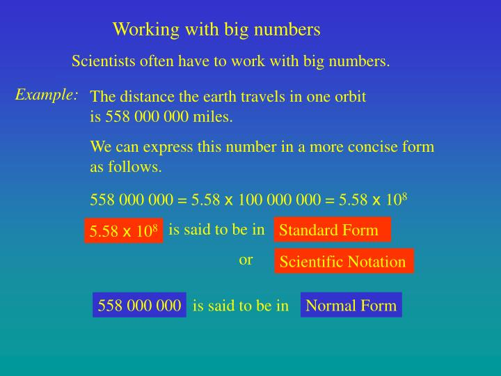 Working with big numbers