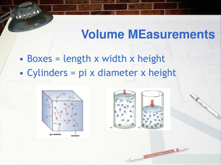 Volume MEasurements