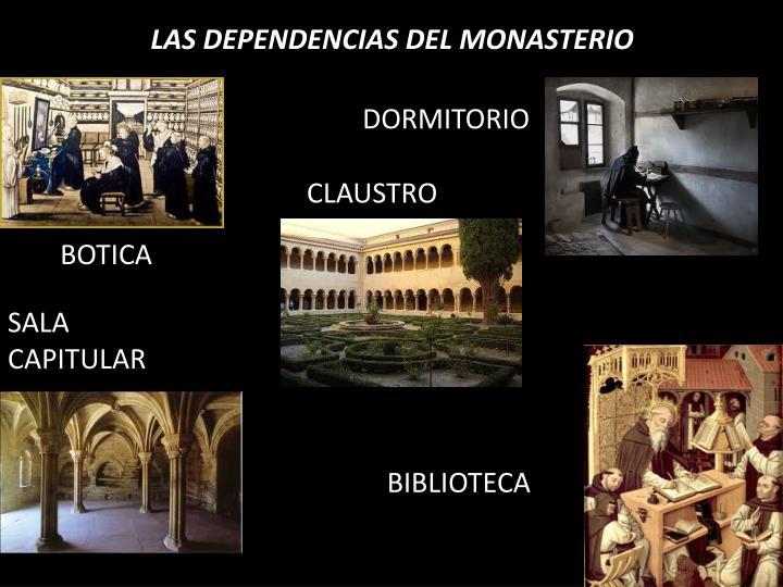 LAS DEPENDENCIAS DEL MONASTERIO