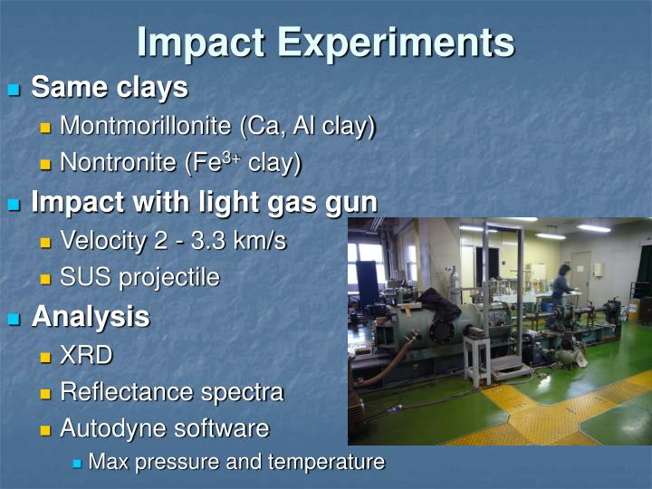 Impact Experiments