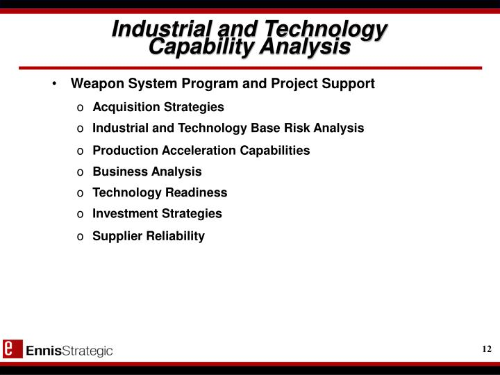 Industrial and Technology