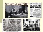 armistice august 1898