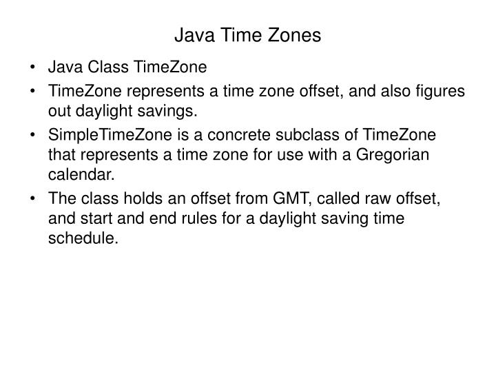 Java Time Zones