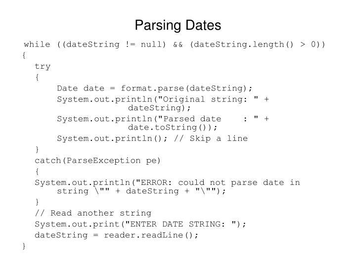 Parsing Dates