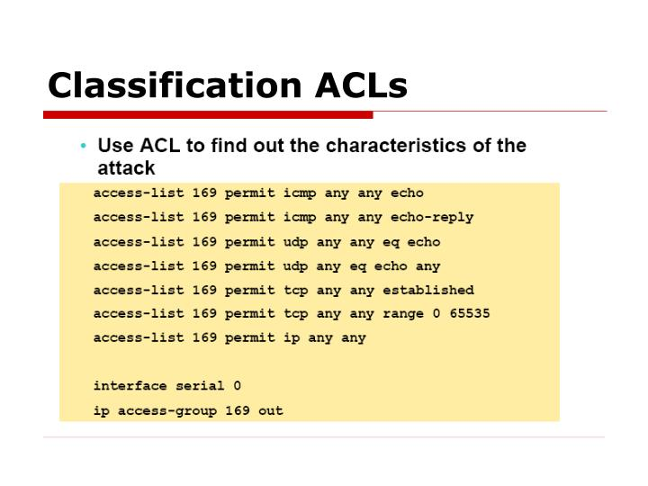 Classification ACLs