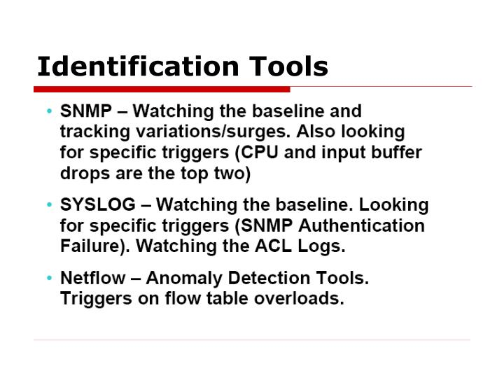 Identification tools