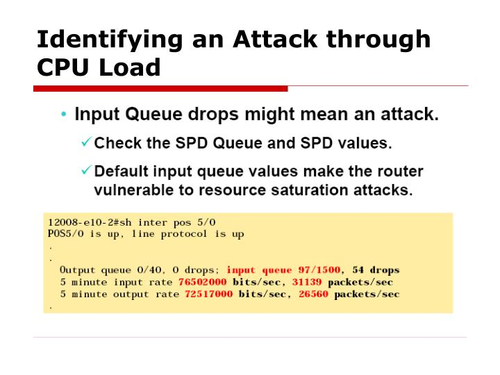 Identifying an Attack through CPU Load