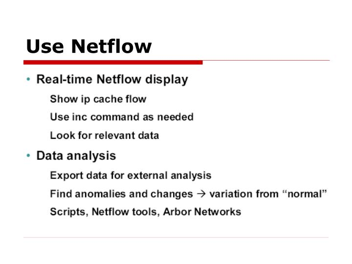 Use Netflow