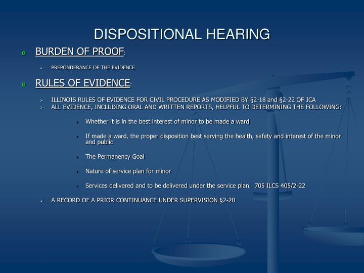 DISPOSITIONAL HEARING