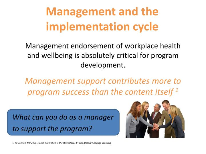 Management and the implementation cycle