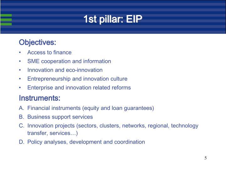 1st pillar: EIP