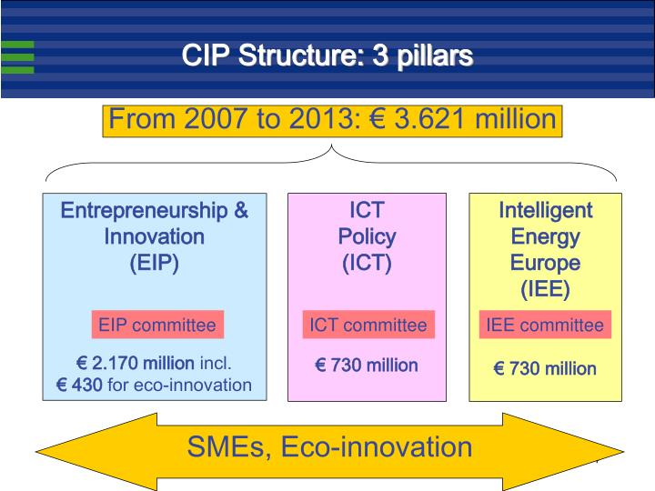 CIP Structure: 3 pillars