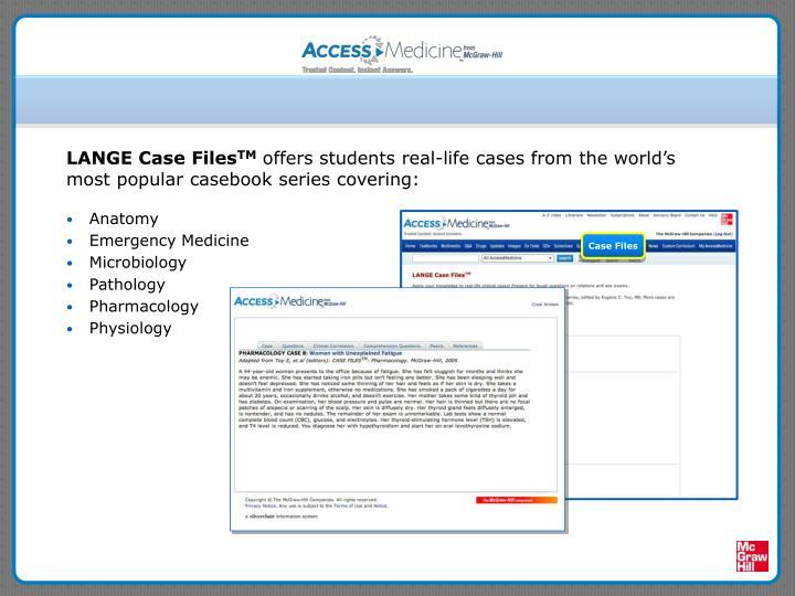 LANGE Case Files