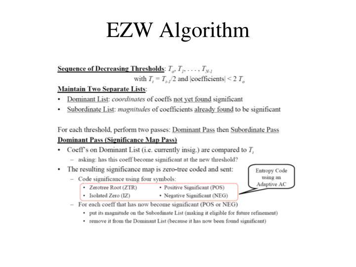 EZW Algorithm