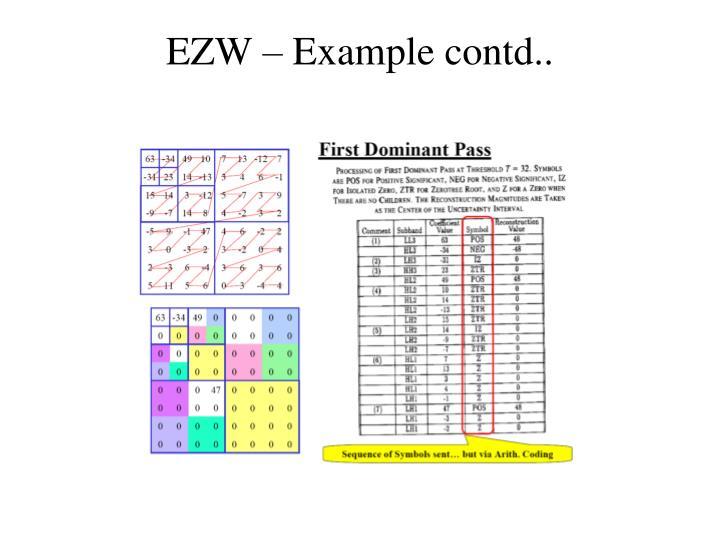 EZW – Example contd..