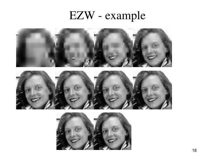 EZW - example