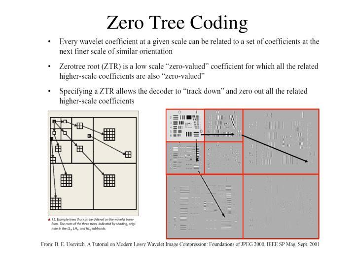 Zero Tree Coding