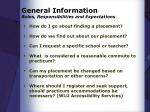 general information roles responsibilities and expectations