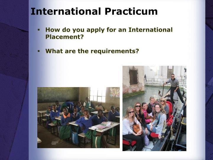 International Practicum