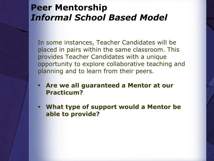 Peer Mentorship