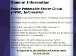 police vulnerable sector check pvsc information