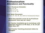 professionalism attendance and punctuality