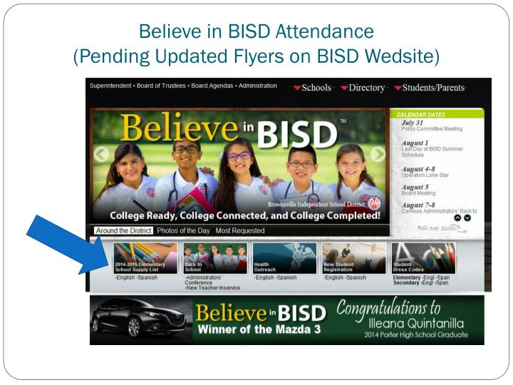 Believe in BISD Attendance