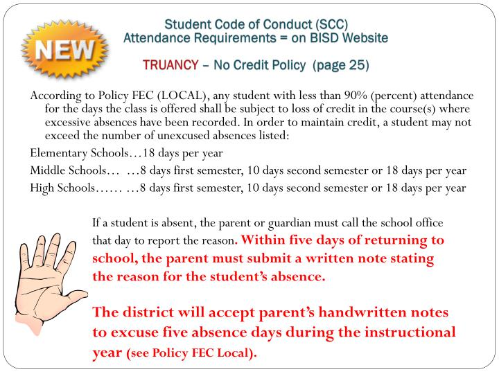 Student Code of Conduct (SCC)