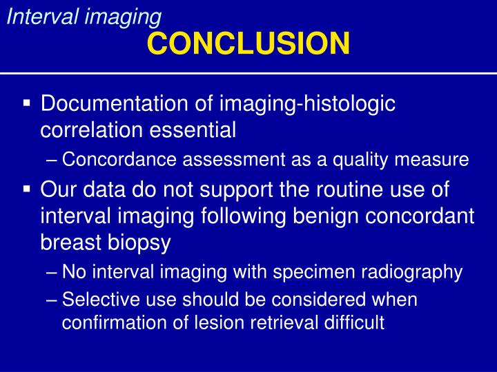 Interval imaging