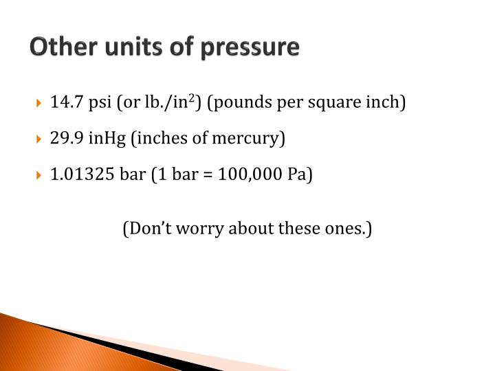 Other units of pressure