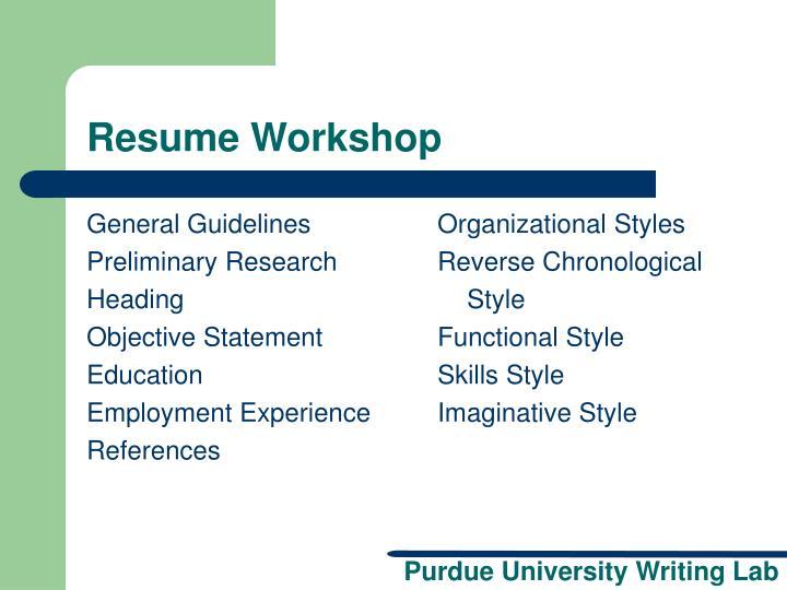ppt resume workshop powerpoint presentation id 5765990