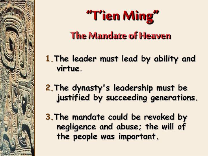 """""""T'ien Ming"""""""