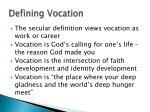 defining vocation
