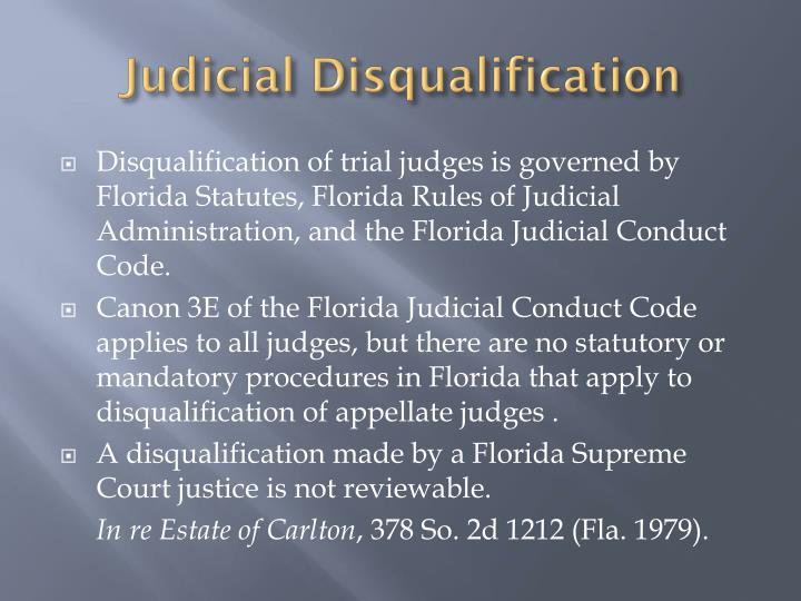 Judicial Disqualification