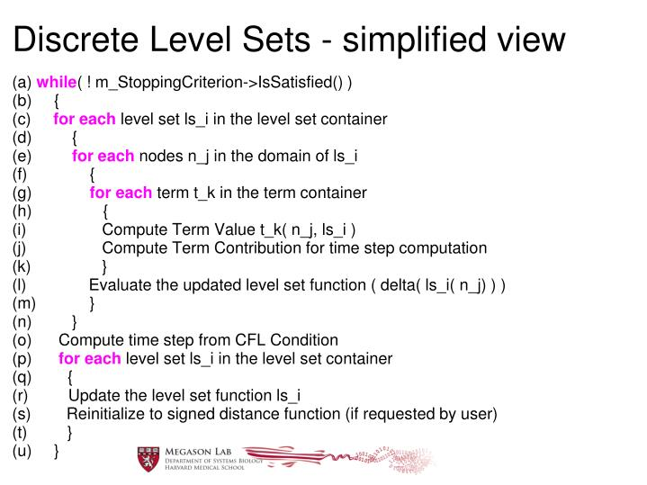 Discrete Level Sets - simplified view