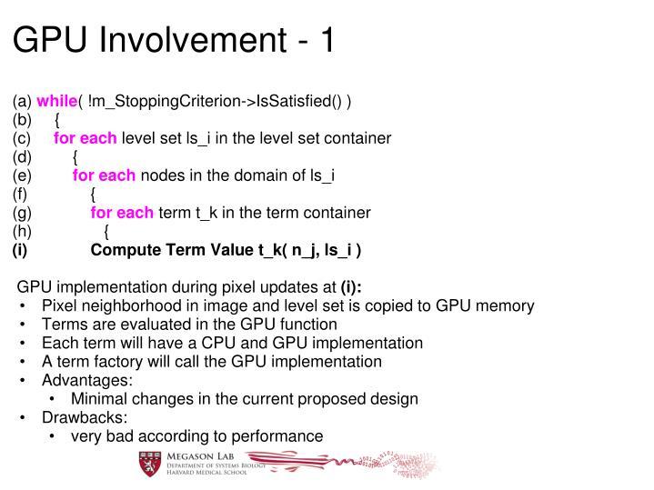 GPU Involvement - 1
