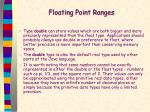 floating point ranges1