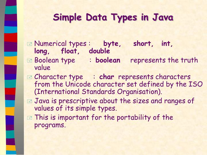 Simple Data Types in Java