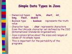 simple data types in java1