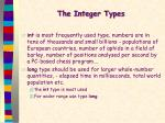 the integer types2