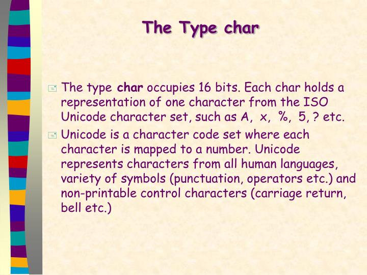 The Type char