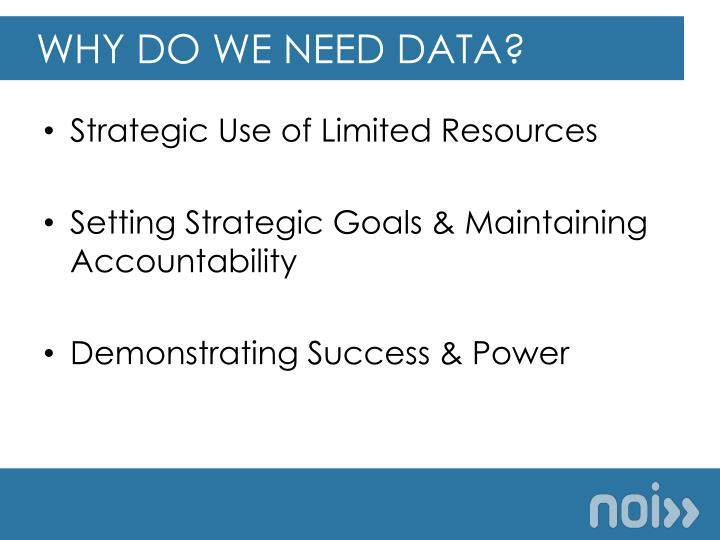 Why do we need data?