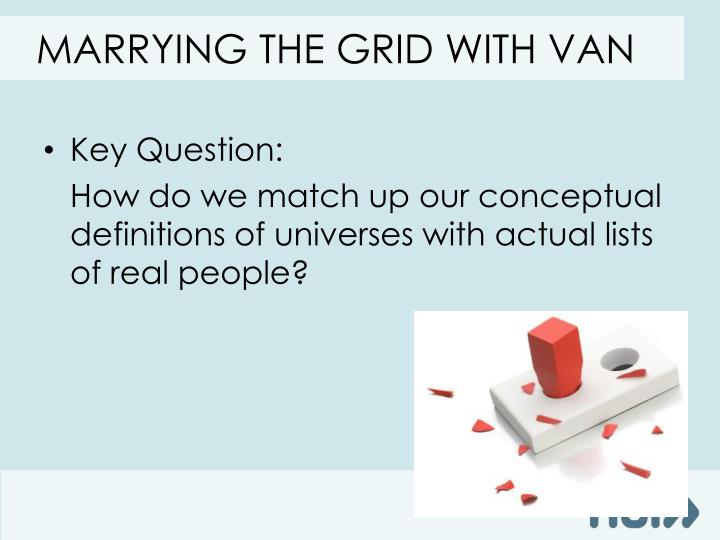 Marrying the grid with van