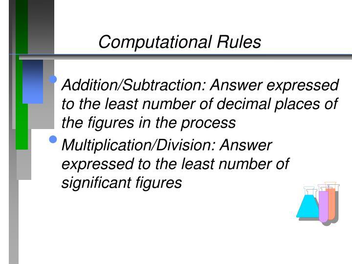 Computational Rules